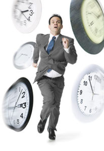 It can be a nightmare chasing after time, and in the case of this picture, to be chased by time (source: Google images).